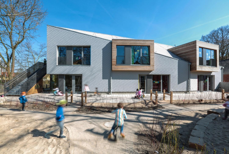 Holz Gräfe graefe schonhoven architekten neubau kita walle